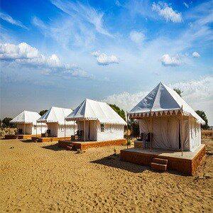 Desert camp in sam sand dunes Copy