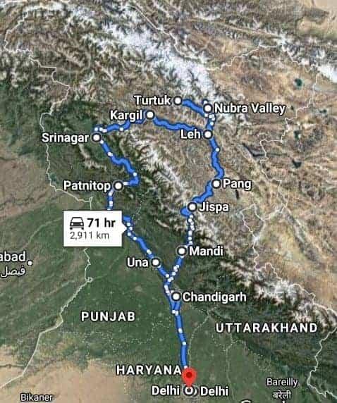Ladakh Map Sat
